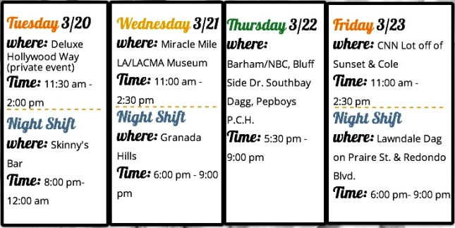 Route Schedule 3/20/12 - 3/23/12